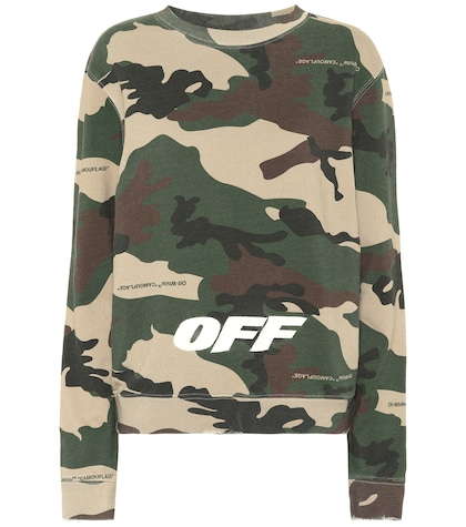 Camouflage cotton sweatshirt