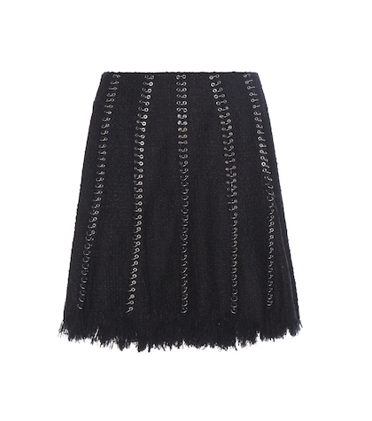 alexander wang female embellished cottonblend skirt