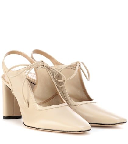 the row female camil leather slingback pumps