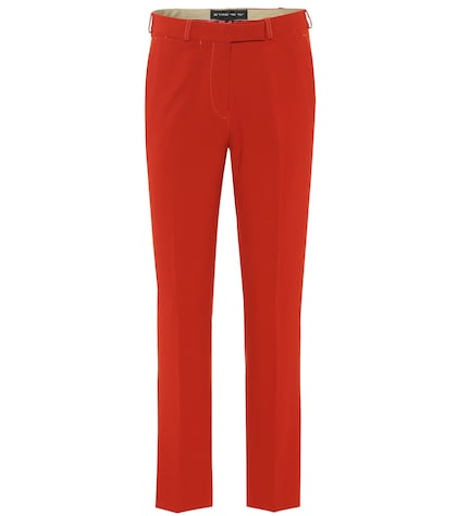 Cropped crêpe pants