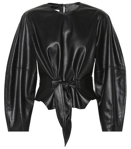 Corsa faux leather top