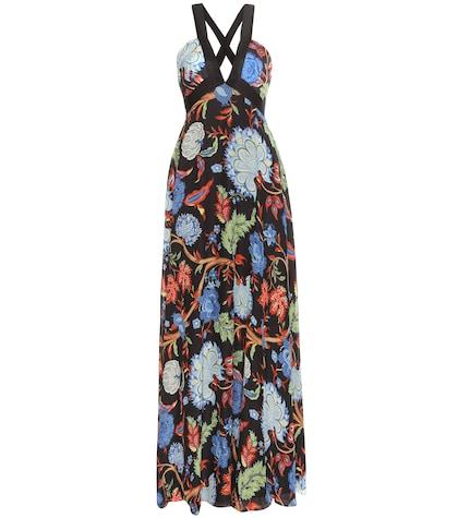 alice olivia female celina printed chiffon dress