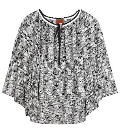 Crochet-knit Top