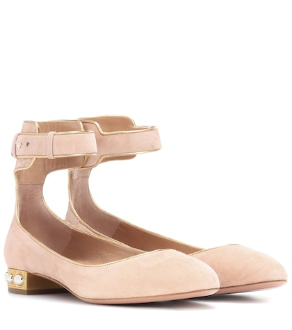 Lucky Star suede ballerinas