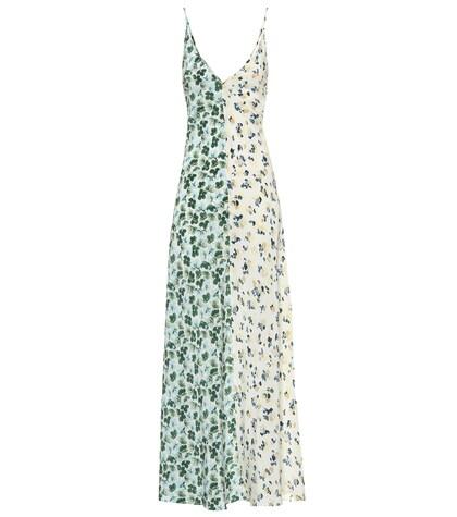 Robe longue Eloise en soie imprimée