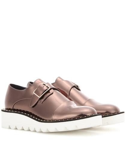 Odette metallic monk shoes