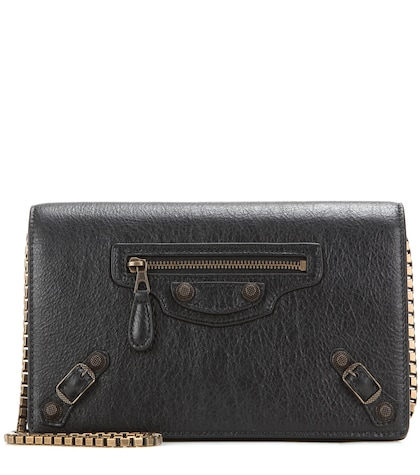 Giant Chain Wallet Leather Shoulder Bag