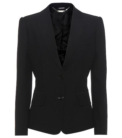 alexander mcqueen female 188971 crepe blazer