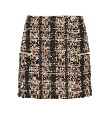 Metallic tweed miniskirt