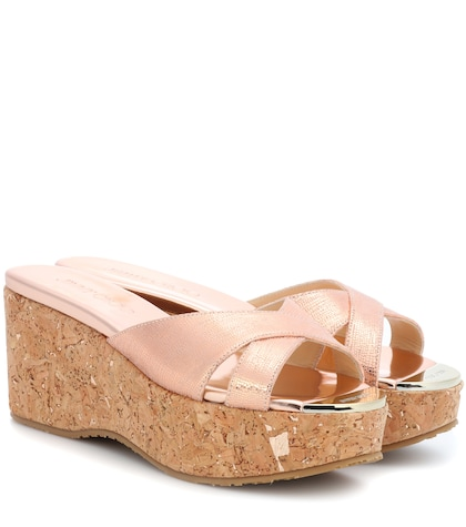Prima leather wedge sandals