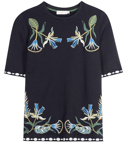 Ainsley Embroidered Cotton Jersey Top