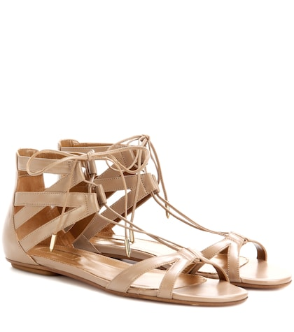 Beverly Hills Flat Leather Sandals