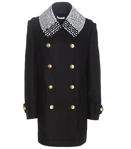 altuzarra female charles woolblend coat with embellished collar