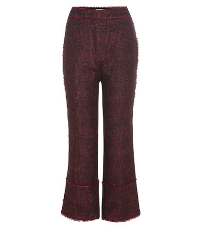 erdem female verity woolblend trousers