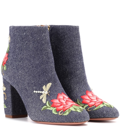 Lotus 85 denim ankle boots