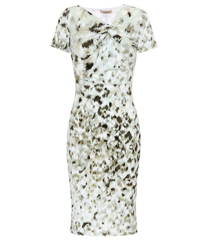 Leopard-printed jersey dress