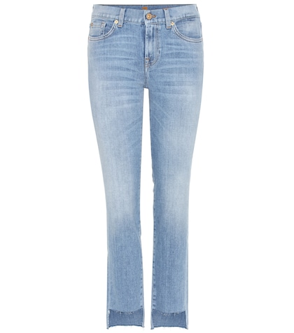 7 for all mankind female midrise roxanne jeans with cropped step hem
