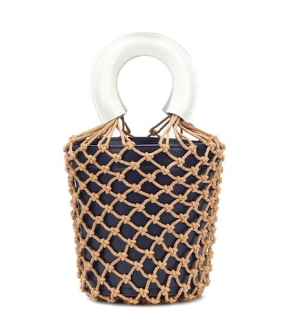 Moreau netted leather bucket bag