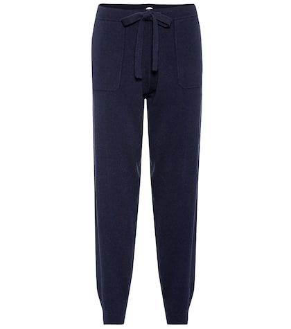 Wool and cashmere trackpants