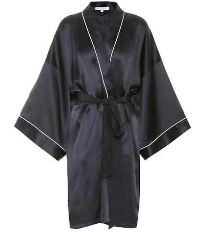 Mimi short silk robe