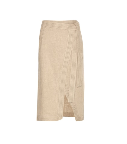 altuzarra female ronin linen skirt