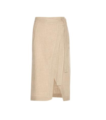 altuzarra female 186518 ronin linen skirt