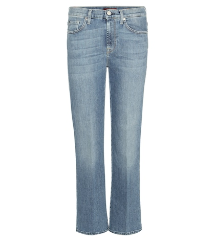 7 for all mankind female cropped bootcut jeans