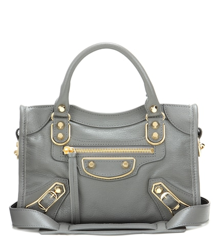 balenciaga female classic metallic edge city mini leather tote