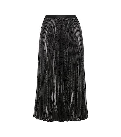 Heavyn metallic plissé skirt