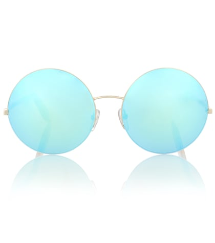 victoria beckham female supra mirrored round sunglasses