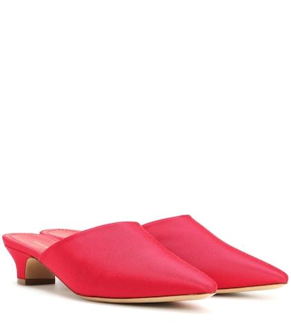 Elegant suede slippers