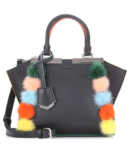 fendi female 3jours mini leather tote