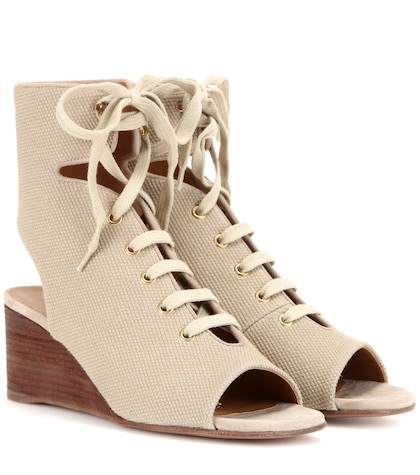 Iness lace-up wedge sandals