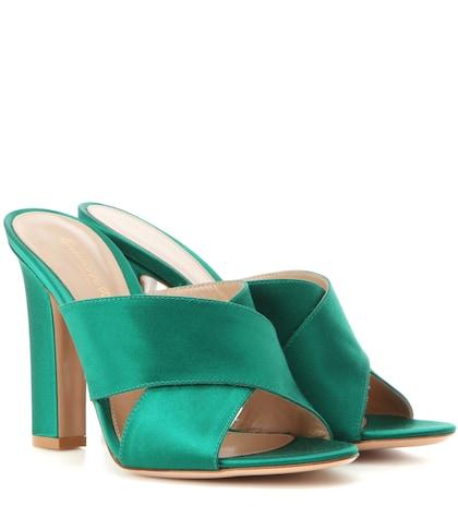 gianvito rossi female satin sandals