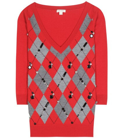 marc jacobs female 250960 crystalembellished wool sweater