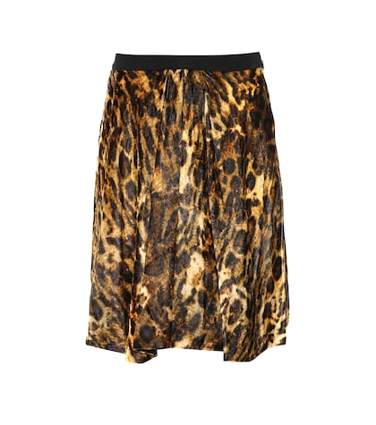 Tanza leopard-printed skirt