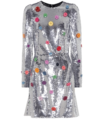 Button Sequined dress