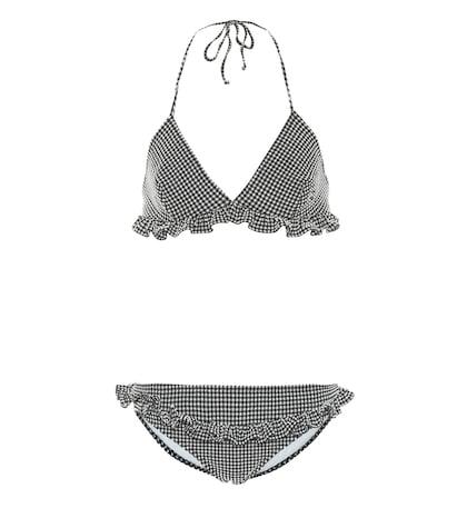 Bikini triangle à carreaux vichy