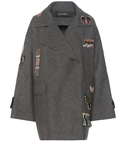 Beaded Virgin Wool Coat