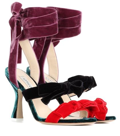 Diletta Velvet Sandals