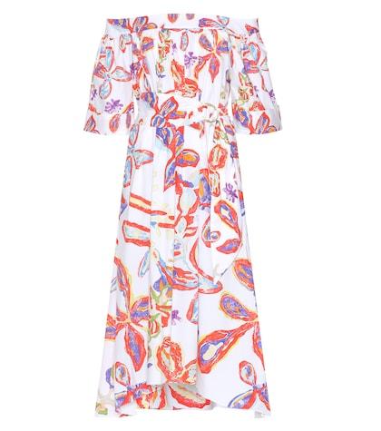 Printed off-the-shoulder dress