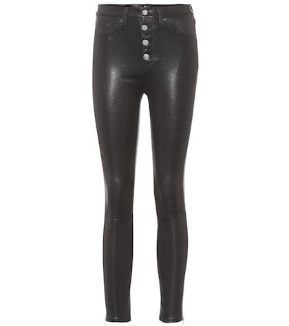Pantalon skinny en cuir