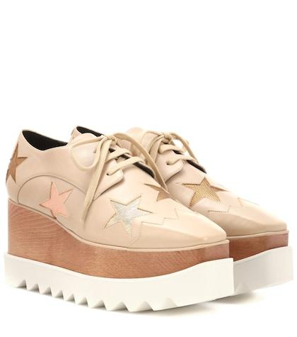Elyse Star platform derby shoes