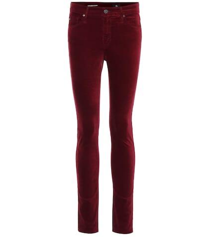 The Farrah high-waisted velvet skinny jeans