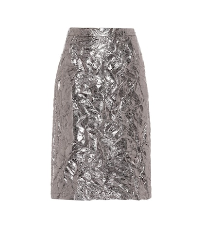 Cynthia metallic pencil skirt