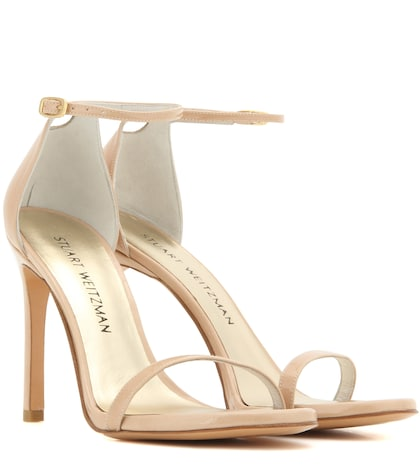 stuart weitzman female nudistsong patent leather sandals