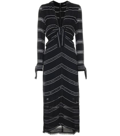 Crêpe Striped Dress