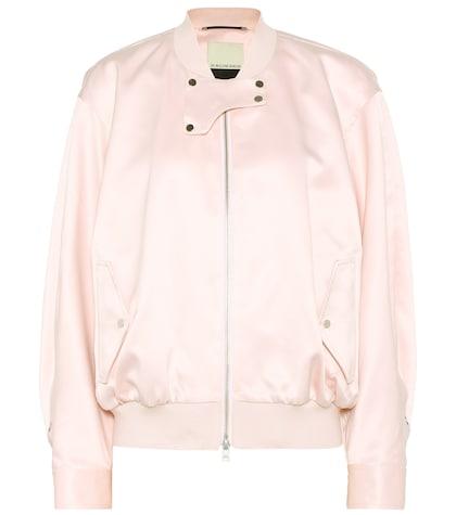 Sanicas satin bomber jacket