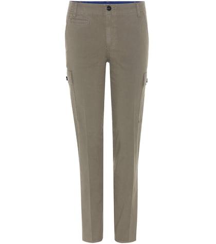 tory burch female sierra chino cotton trousers