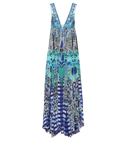 camilla female embellished silk dress